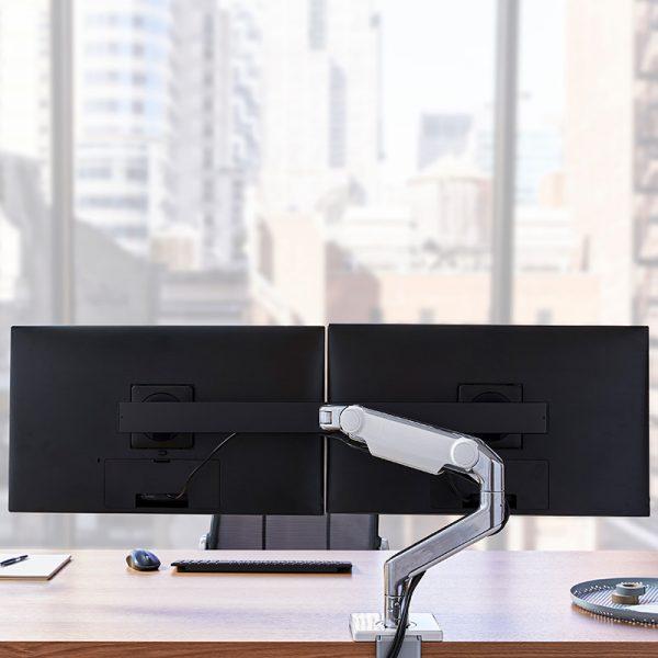 Humanscale M8.1 - regulowane ramię dla dwóch monitorów